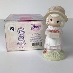 Precious Moments girl berry picking figurine